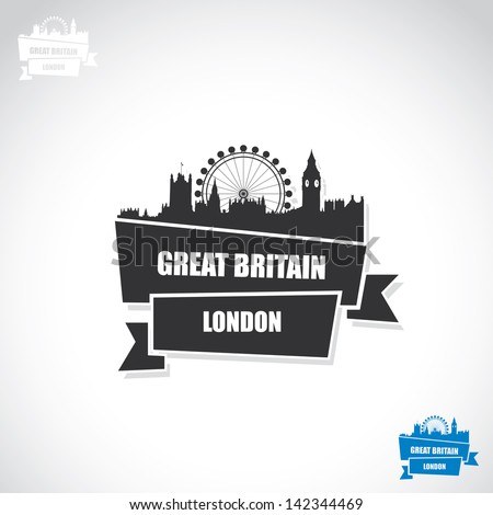 london ribbon banner   vector