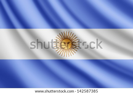 waving flag of argentina  vector