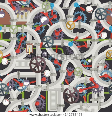 industrial seamless pattern