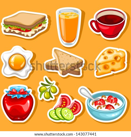 vector healthy breakfast icon