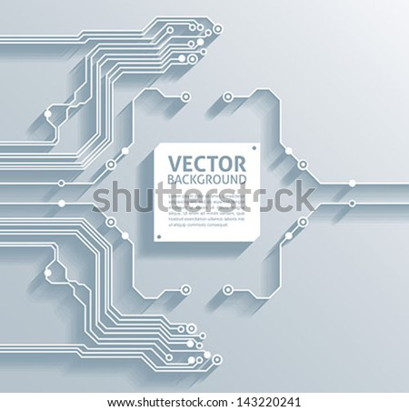 3d circuit board background