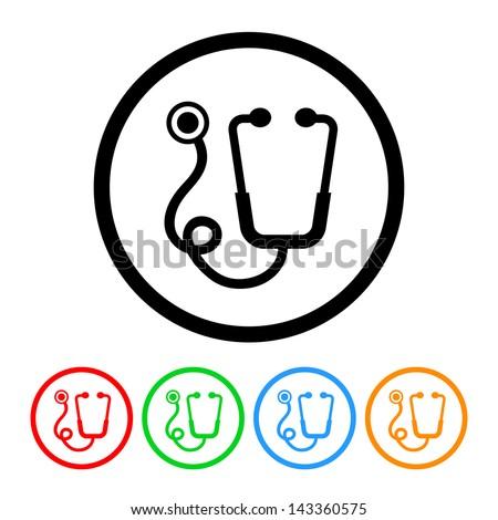 stethoscope icon   raster