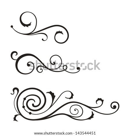 vector swirl elements for