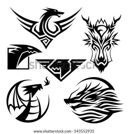 dragon symbols 6 different