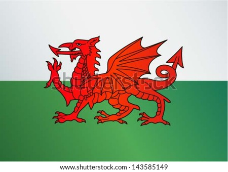 flag of wales   uk    red