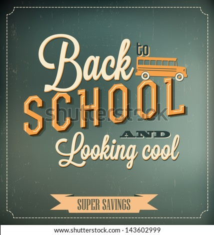 back to school typographic