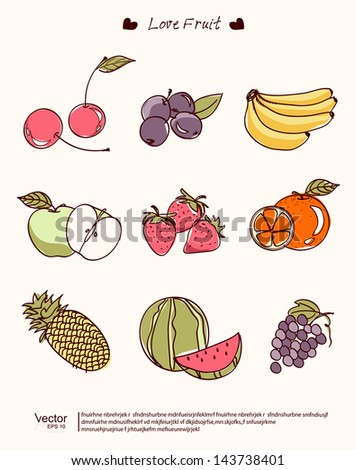 vector illustration fruit of