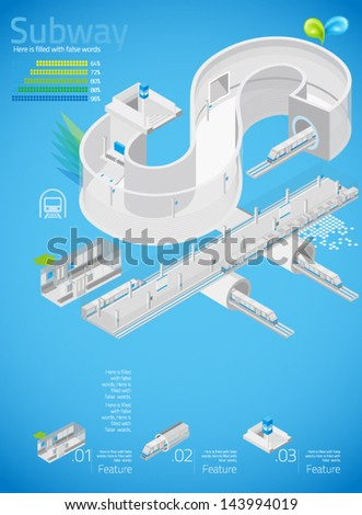 3d letter s   subway with info