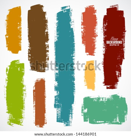 vector set of grunge colorful