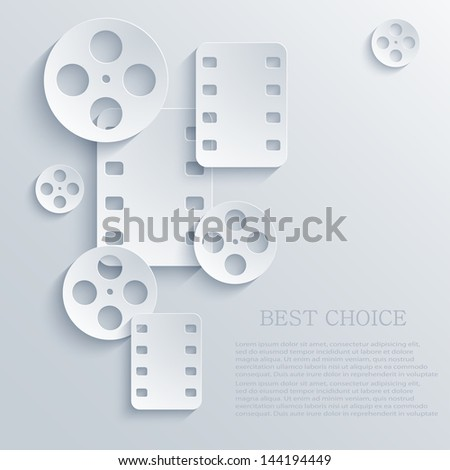 vector film icon background