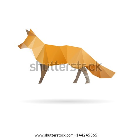 fox abstract isolated on a