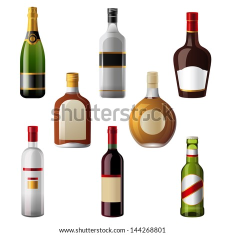 8 shiny alcohol drinks icons