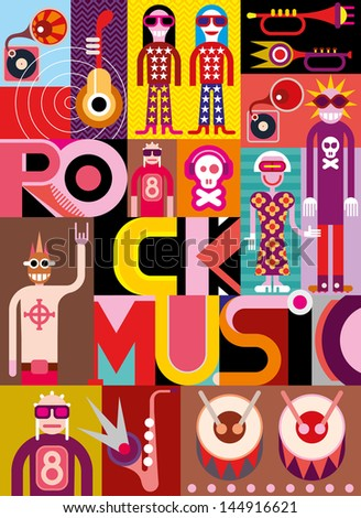 rock music musical collage
