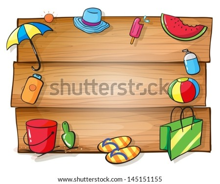 illustration of a wooden