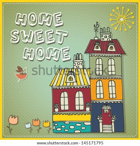 home sweet home vintage