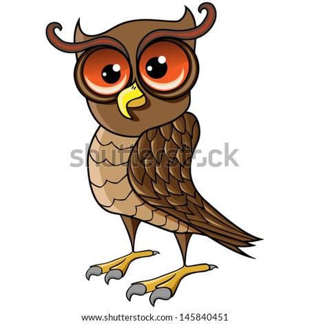 cartoon vector owl