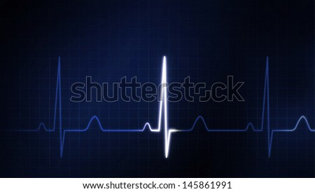 the graphic of ekg monitor for