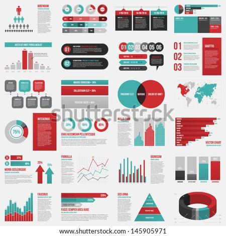 big set of infographics