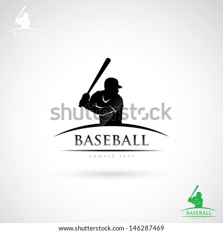 baseball player label   vector