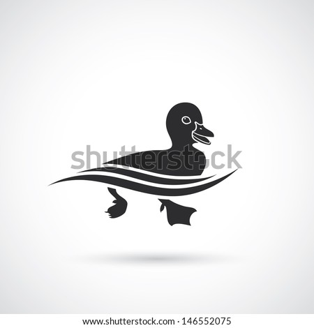 duck sign   vector illustration