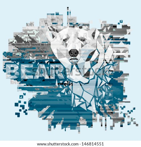 vector illustration with polar