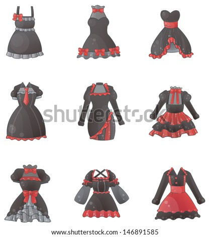 sets of gothic dresses in white