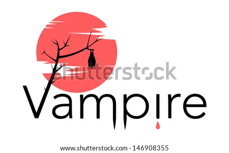 vector vampire sign with bloody
