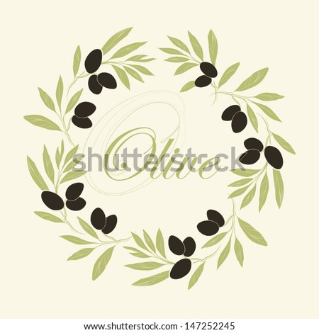 vector decorative wreath olive