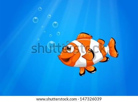 illustration of a sea with a