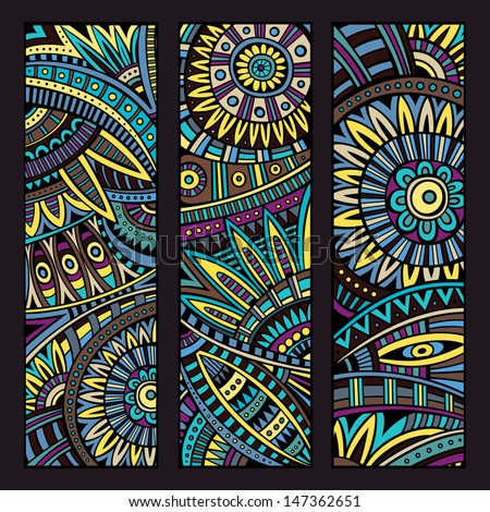 abstract vector ethnic pattern