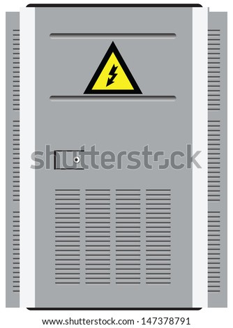 door transformer station with a