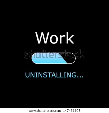 uninstalling work illustration