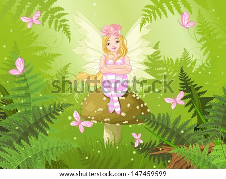 magic fairy with butterfly in