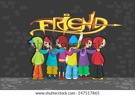 illustration of friends