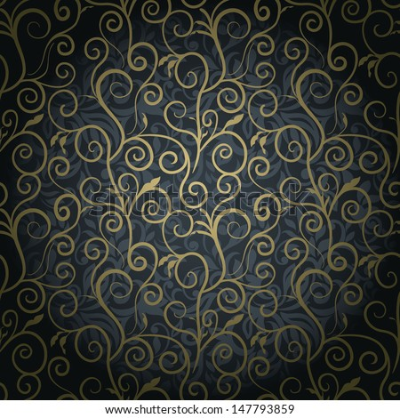 swirls on seamless abstract