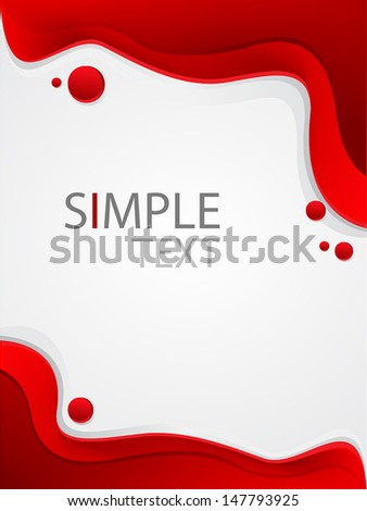 red abstract background set