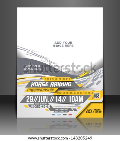 horse riding flyer   poster