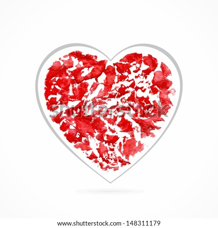 red heart design element for