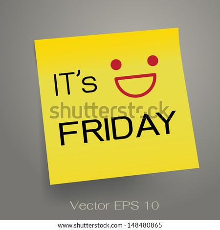 it's friday  note on yellow