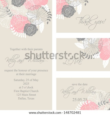 wedding invitation  thank you