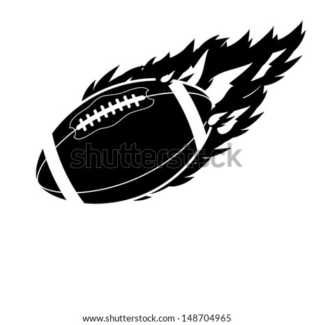 flaming football eps 10 vector