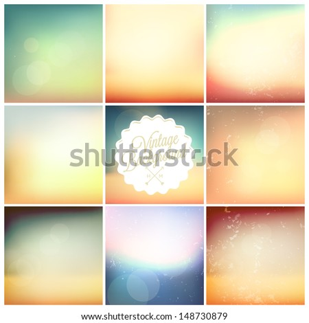 set of soft colored abstract