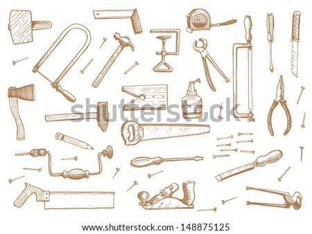 vintage set of tools
