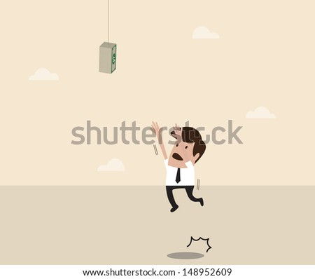 vector cartoon of businessman