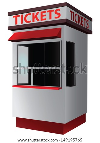 ticket booth for the sale of