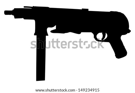 black rifle shilouette isolated