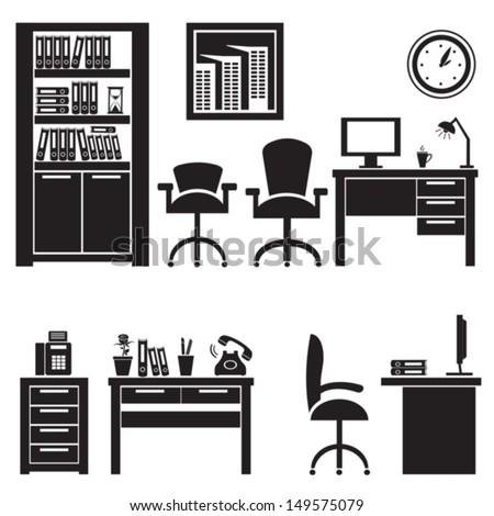 office interiorvector eps 10