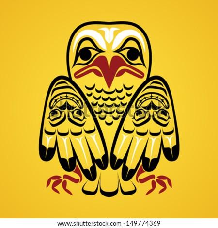 vector illustration of an eagle