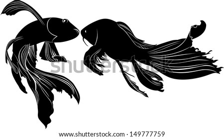 goldfish carp vector isolated