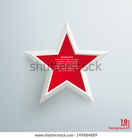 big red star on the grey